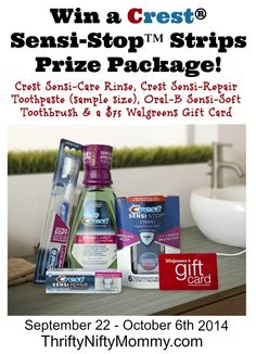 Crest Giveaway 2 Thrifty Nifty Mommy http://thriftyniftymommy.com/2014/09/stop-tooth-sensitivity-crest-plus-giveaway.html