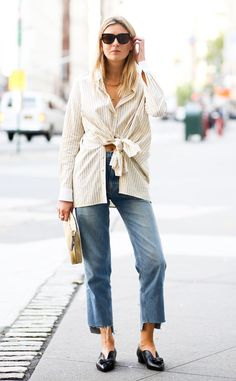 Camille Charriere from Street Style at New York Fashion Week Spring 2016