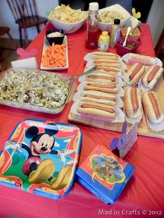 Homemade Mickey Mouse Birthday Party Menu ~ MAD IN CRAFTS