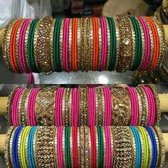 Bangles Silk Thread Bangles Design, Silk Bangles, Bridal Bangles, Thread Jewellery, Bangle Set, Bangle Bracelets, Chuda Bangles, India Jewelry, Bollywood
