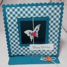 Window Easel, flying butterfly