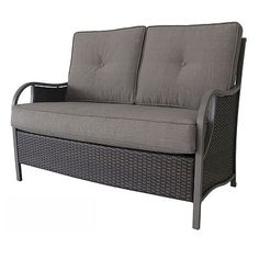 Patio furniture.....all it needs is a colorful throw pillow or two!