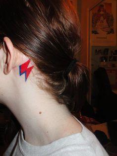 david bowie lightning bolt tattoo