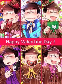 Osomatsu-san || Osomatsu, Karamatsu, Choromatsu, Ichimatsu, Jyushimatsu, Todomatsu (Valentine's Day)