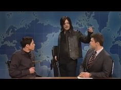 Pete Davidson Gets Shot By Norman Reedus Crossbow /Saturday Night Live - YouTube