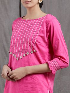 Kurti Back Neck Designs, Silk Kurti Designs, Churidar Designs, Neck Designs For Suits, Sleeves Designs For Dresses, Dress Neck Designs, Kurta Designs Women, Kurti Designs Party Wear, Latest Dress Design