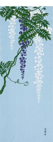 wisteria - spring 町家手拭 藤 - 永楽屋 ONLINE SHOP