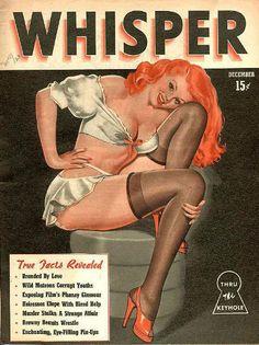 """Dec 1946 Cover of Robert Harrison's """"Whisper"""" vintage magazine"""