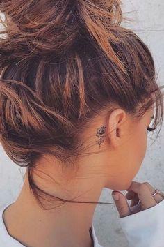 Flower tattoo behind ear flower tattoo ear, behind ear tattoo small, behind ear tattoos Dainty Tattoos, Mini Tattoos, Trendy Tattoos, Cute Tattoos, Beautiful Tattoos, Body Art Tattoos, Cross Tattoos, Flower Tattoo Ear, Small Flower Tattoos