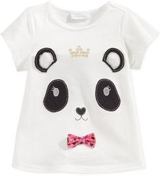 First Impressions Baby Girls' Panda Face T-Shirt, Only at Macy's
