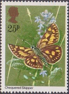 Butterflies 25p Stamp (1981) Carteroephalus palaemon