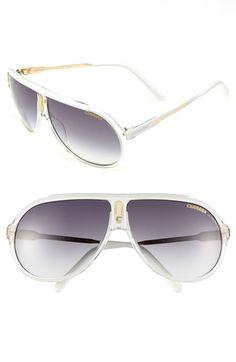 8f313563dd Carrera Eyewear  Endurance  63mm Aviator Sunglasses White