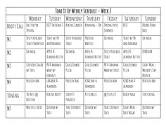 This would be a good tool to plan our meals. It's an example of a Tone it Up weekly plan small meal concept). Fail to plan, plan to fai. Tone It Up, Water Mister, Protein Oatmeal, Nutrition Plans, Nutrition Tips, Fitness Nutrition, Get Healthy, Healthy Eats, Healthy Foods