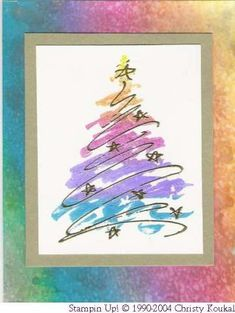 Solemn Stillness rainbow Christmas by - Cards and Paper Crafts at Splitcoaststampers - - Solemn Stillness rainbow Christmas by – Cards and Paper Crafts at Splitcoaststampers Weihnachtskarten mit Tannenbäumen Feierliche Stille Regenbogen Weihnachten Painted Christmas Cards, Watercolor Christmas Cards, Christmas Card Crafts, Homemade Christmas Cards, Christmas Drawing, Christmas Paintings, Watercolor Cards, Christmas Art, Homemade Cards