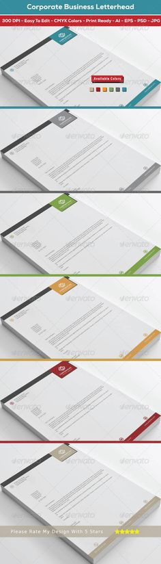 Buy Corporate Business Letterhead by shujaktk on GraphicRiver. Product Description of Corporate Business Letterhead Design: Corporate Business Letterhead Design is a best design fo. Letterhead Design, Letterhead Template, Print Design, Logo Design, Design Cars, Graphic Design, Stationery Items, Information Graphics, Corporate Business