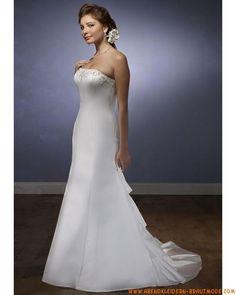2012 Elegantes schönstes Brautkleid aus Taft und Organza mit Schleppe