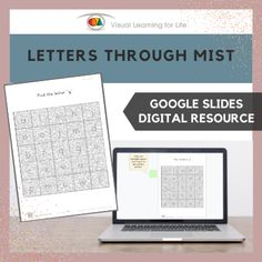 """This digitally interactive resource is designed for use with Google Slides. This resource contains 5 slides in total.The student must find the letter specified in the instruction behind the """"mist"""", and drag the green highlight square to the correct answer."""