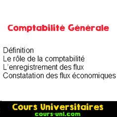 Introduction Comptabilité générale | Cours Universitaires