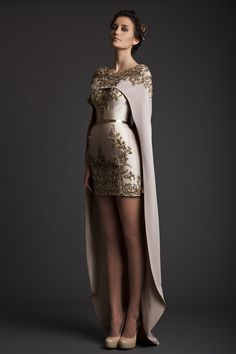 SS14 | Krikor Jabotian  The dress is amazing. Not really feeling the cape, though.