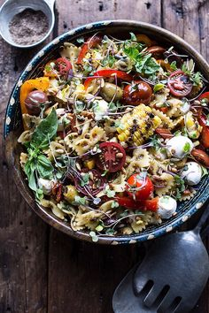 An Everything-But-the-Kitchen-Sink Pasta Salad Recipe
