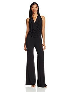 Young Fabulous & Broke Women's Lisle Draped Jersey Jumpsuit, Black, Medium - http://www.womansindex.com/young-fabulous-broke-womens-lisle-draped-jersey-jumpsuit-black-medium/