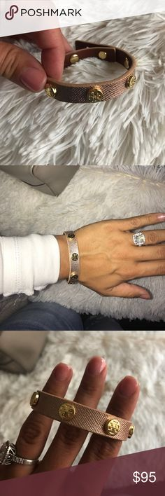 Rose gold/pinky Tory Birch wrap bracelet! Never worn perfect condition, 100% authentic Tory Burch Jewelry Bracelets