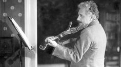"""Music helps him when he is thinking about his theories said Albert Einstein's second wife Elsa.  He himself stated that without music he would never had become a scientist: I live my daydreams in music. I see my life in terms of music  I get most joy in life out of music.  Read this story about Albert Einstein and his love affair with his violin """"Lina"""".  Via National Geographic  Photo: Einstein at the home of Leiden physics professor Paul Ehrenfest 1920. On his lap is Paul Ehrenfest Jr…"""