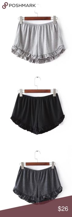 Ruffle cotton shorts Brand new one size flowy ruffle cotton shorts.               Measurements: waist-23/27in, length-8/9in.         Tags: brandy Melville Tobi forever 21 Topshop     ✋No Trades✋ Shorts