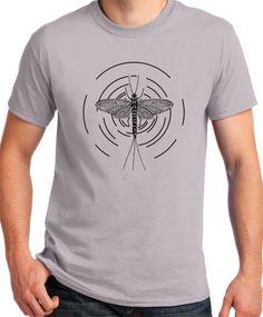 Fly Fishing Shirt Mayfly by BluYeti on Etsy