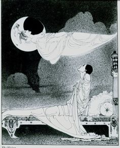 illustrator: kay Nielsen date: 1911 These illustrations were never published in book form . Were exhibited by K Nielsen At London as a series of black and white drawings called The Book of. Art Inspo, Kunst Inspo, Art And Illustration, Botanical Illustration, Fantasy Kunst, Fantasy Art, Kay Nielsen, Ouvrages D'art, Fairytale Art