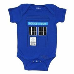 Doctor Who Tardis Costume Police Box Dr. Who BBC Licensed Baby Infant Snapsuit