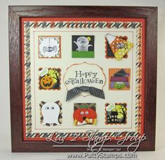 www.PattyStamps.com - Halloween Framed art home decor featuring Stampin' Up! punches and craft supplies