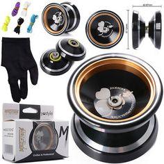 Unresponsive M001/2 Magic YOYO Alloy Aluminum Yo Yo Bearing Reel+5 Strings+Glove