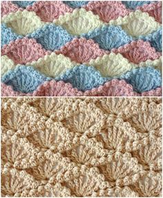 Different Point of Crochet Shell Textured Shell – Pattern Free