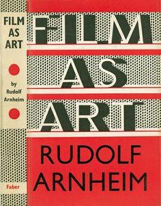 Film As Art by Rudolf Arnheim, first published in 1958.
