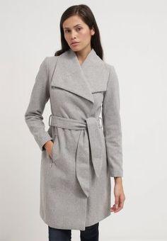Vero Moda VMKATE - Wollmantel / klassischer Mantel - light grey melange - Zalando.de