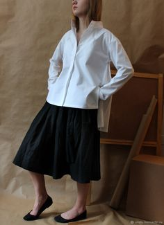 98ccef6d2c2 Рубашка белая. Хлопок - купить или заказать в интернет-магазине на Ярмарке  Мастеров -