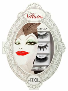 Ardell DISNEY VILLAINS Ursula Little Mermaid False Eyelashes Makeup Kit Rare NIB #Ardell