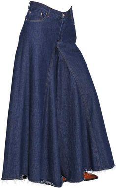 05f9622eca MM6 MAISON MARGIELA Wide Leg Cotton Denim Jeans Jeans Denim, Old Jeans, Denim  Skirts