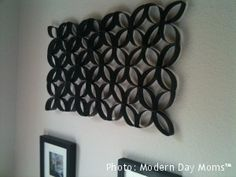 Awesome wall hanging made from toilet paper rolls! Seen something like this before, I would love to try and make one. Even if it doesn't turn out, it shouldn't cost much at all.