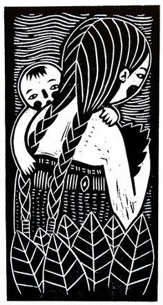 Wackala Arte Gráfico Linocut Prints, Art Prints, Lino Art, Scratchboard Art, Protest Art, Scratch Art, Rabbit Art, Arte Popular, Stencil Art