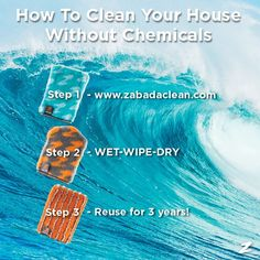 How Do You Clean Your Home WITHOUT Chemicals AND save money? With ZABADA Cleaning Products. Check them out!