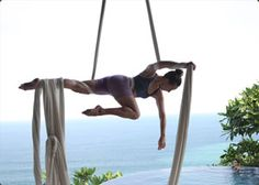 Learn how to do aerial silks during a yoga retreat at Anamaya Resort