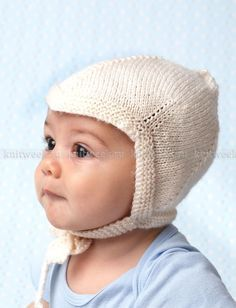 Чепчик спицами для малыша