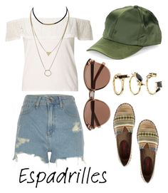 """Espadrilles 😍"" by rockyourpetiteness on Polyvore featuring moda, Witchery, COLLECTION 18, River Island, Dorothy Perkins e Noir Jewelry"