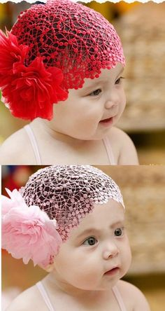 Lace Flowers infant toddler headband baby girl children hair accessories ornament $2.39