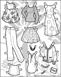 Playing with Pattern on Ms. Mannequin Paper Doll Clothes - Paper Thin Personas
