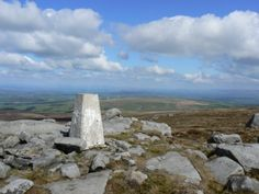 The western trig point on Ward's Stone in the Forest of Bowland - a superb view.