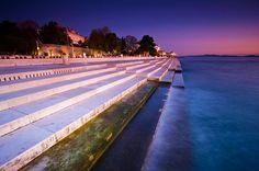 230-foot long instrument on the coast of Zadar, Croatia, plays enchanting harmonies using the movements of the sea