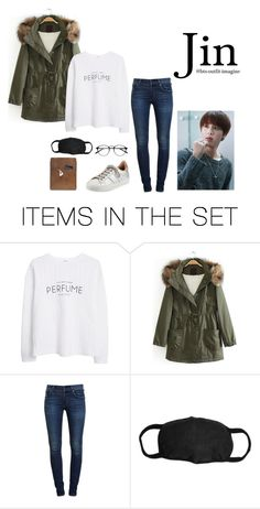 """""""Pick him up from airport (Jin)"""" by effie-james ❤ liked on Polyvore featuring art, simple, kpop, korean, bts and jin"""